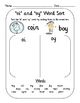 Vowel Digraph Word Sort for oi & oy