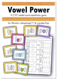 Vowel Power - A CVC Medial Sound Substitution Phonics Game