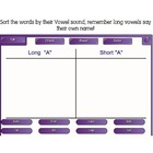 "Vowel Sorting Game - ""A"""