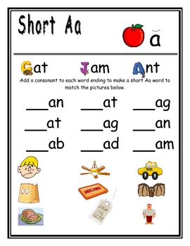 Vowel Sounds - Short Aa Sound