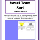 Vowel Team Sorts