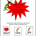 Vowel Team &quot;Splat&quot; Phonics Game