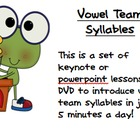 Vowel Team syllables in just 5 minutes a day