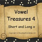 Vowel Treasures 4 File Folder Game - Sort Short o Long o Words