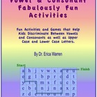 Vowel and Consonant Fabulously Fun Activities