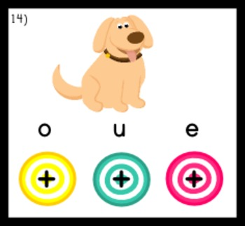 Vowels Bull's Eye Poke Game