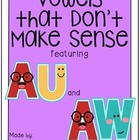 Vowels that Don&#039;t Make Sense: AU and AW