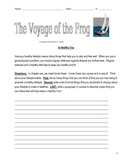 Voyage of the Frog Gary Paulsen Lit Unit 28 Pages