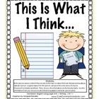 W.1.1 First Grade Common Core Worksheets, Activity, and Poster