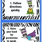 WBT Rules Zebra Print 4 by 6