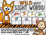 WILD aout Sight Words!  Year-Long Incentive Program
