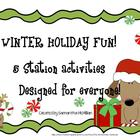WINTER HOLIDAY FUN:  5 Literacy Station Activities for Chr
