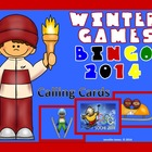 WINTER OLYMPIC BINGO 2014 Calling Cards