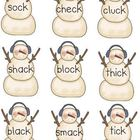 WINTER SNOWMAN CK digraph, short vowel, rhyming games Lite