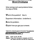WISE Word Problem Strategy