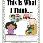 W.K.1 Kindergarten Common Core Worksheets, Activity, and Poster