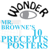 WONDER Palacio R.J. Novel Mr. Browne's Precepts (10 Posters)