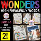 Reading WONDERS 2nd Grade High Frequency Word Activities