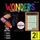 Reading WONDERS 2nd Grade Spelling Words