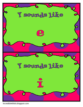 WORD ENDINGS-Does the Y sound like i or e???