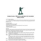 WORLD WAR TRENCH WARFARE TOY SOLDIER ACTIVITY