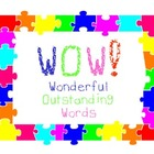 WOW Poster - Wonderful Outstanding Words