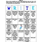 WRITE-O Literacy BINGO Game Homework