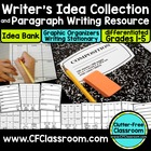 WRITER&#039;S IDEA BANK &amp; PARAGRAPH WRITING KIT grades 1-5