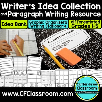 WRITER'S IDEA BANK & PARAGRAPH WRITING KIT grades 1-5