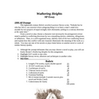 WUTHERING HEIGHTS - Formal Essay Using 1999 AP Prompt