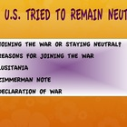 WWI-From Neutrality to War