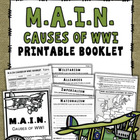 WWI: M.A.I.N. Causes (Booklet)