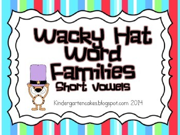 Wacky Hat Word Families Sort- Short Vowels