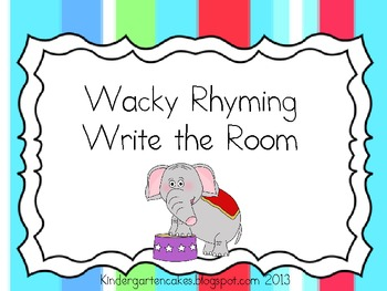Wacky Rhyming Write the Room