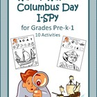 Wacky Wayne's Columbus Day I-Spy for Grades Pre-k-1
