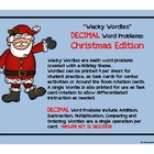 Wacky Wordies:  Decimal Word Problems, Task Cards---  Chri