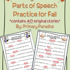 Wacky Words Parts of Speech Practice for Fall