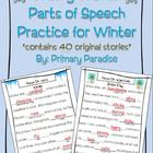 Wacky Words Parts of Speech Practice for Winter