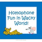 Wacky World Commonly Confused Words and Creative Writing T