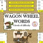 FREE! Wagon Wheel Words: Spelling, Reading, Artic. & Probl