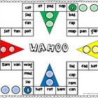 Wahoo Word Game - short a CVC words
