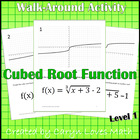 Walk Around Activity ~ Graphing Cube Root Functions ~ Level 1