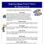 Walk Two Moons Reading Creative Project Activities and Rubric