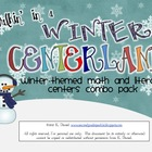 Walkin&#039; in a Winter Centerland {Winter Centers for Math/Literacy}