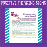 "Counselor Sign Pack ""Positive Thinking"" Cognitive Behavior"