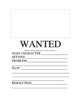 Wanted: Book Report Poster