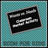 Wants vs. Needs Classroom Market Economics Activity