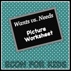 Wants vs. Needs Picture Worksheet