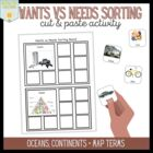 Wants vs Needs Sorting Board