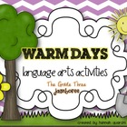 Warm Days Language Arts Activities